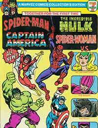 Spider-Man, The Incredible Hulk, Captain America, and Spider-Woman