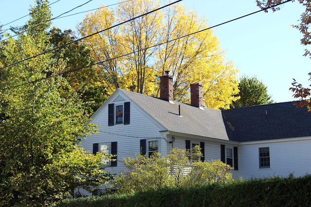 A New England home in fall