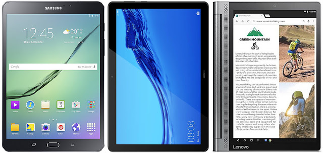 Comparativa tablets Android menos 250 euros