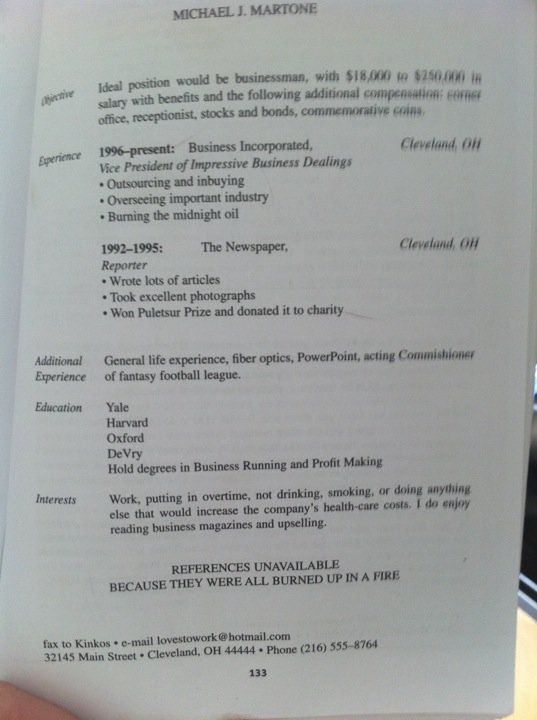 funny real resumes damn cool pictures