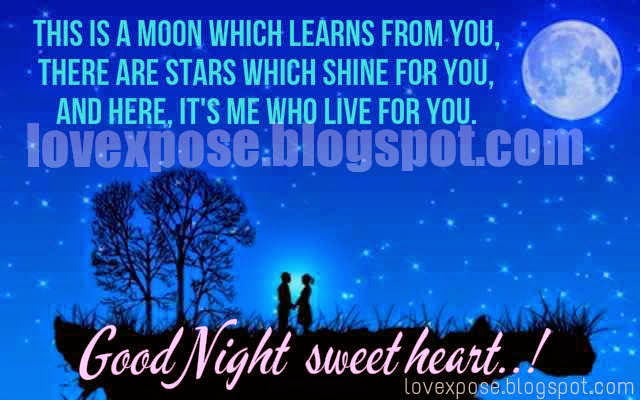 good night romantic sms images - Lovexpose wallpaper love