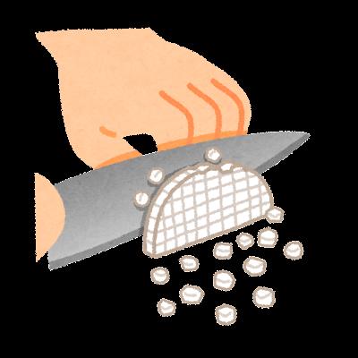 みじん切りのイラスト(野菜の切り方)