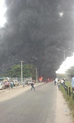 Tanker Explosion on Festac Link Bridge