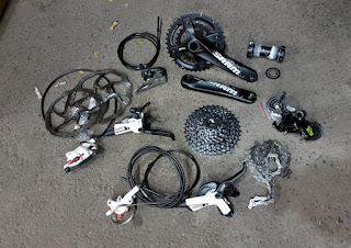 Groupset SRAM X9 2x10 speed MIX majuroyal