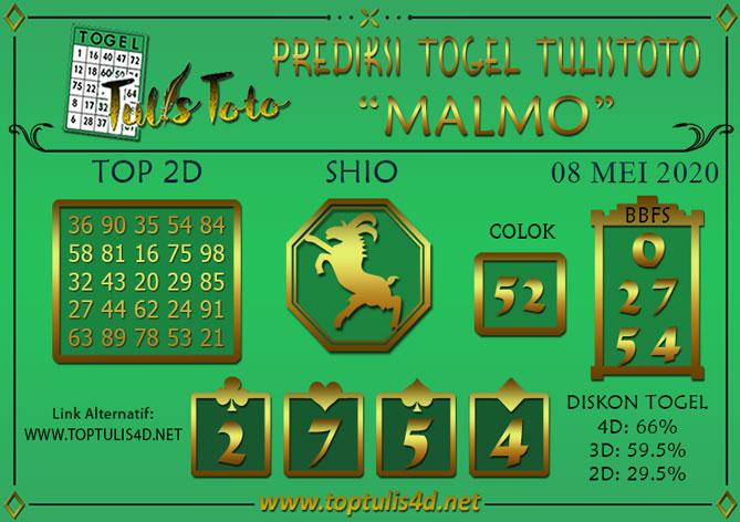 Prediksi Togel MALMO TULISTOTO 08 MEI 2020