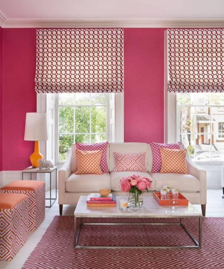 Cool Pink Living Room Ideas