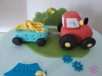 Tarta fondant tractor