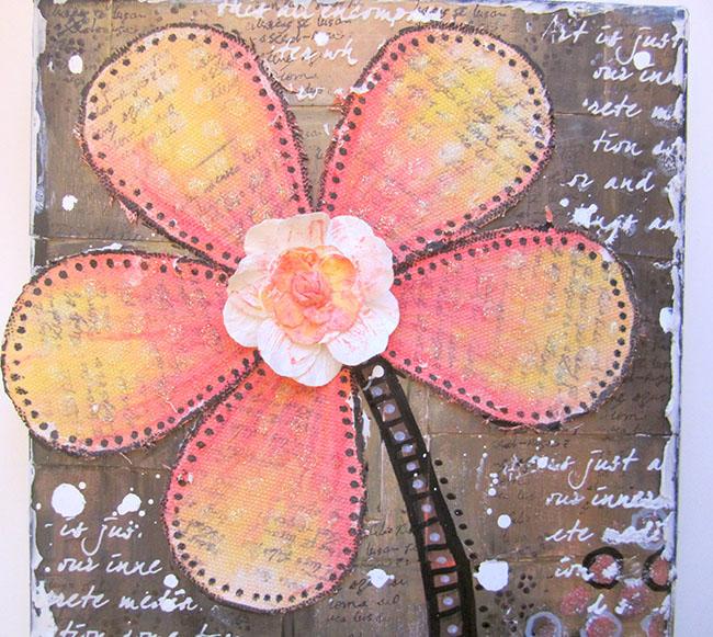Canvas Flower Video Tutorial By Keren Tamir Faber Castell Design