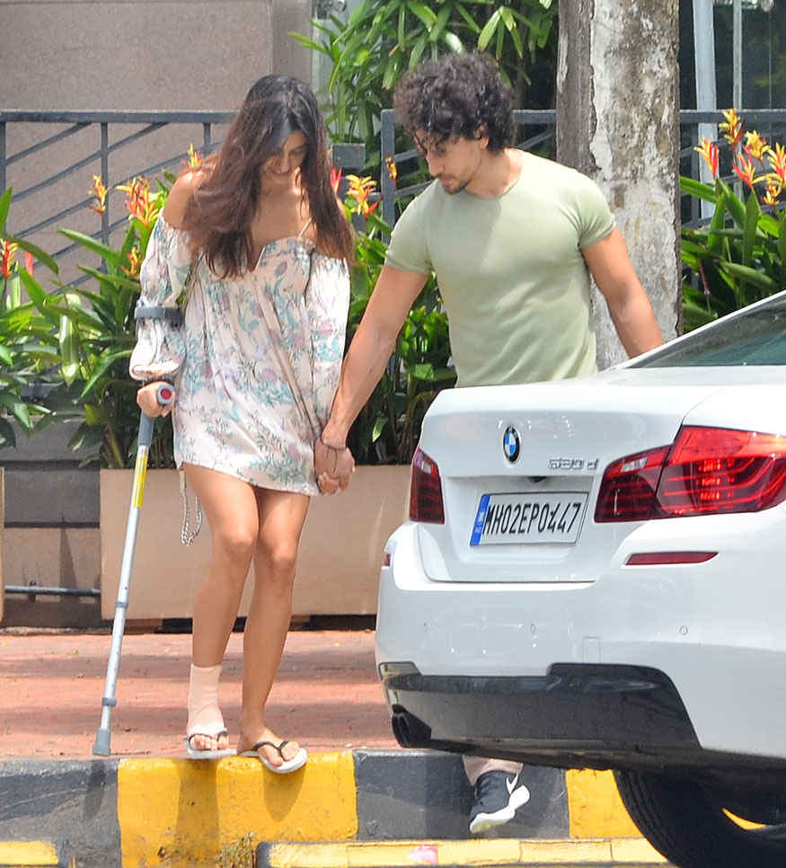 Disha Patani and Tiger Shroff In Bandra, Mumbai
