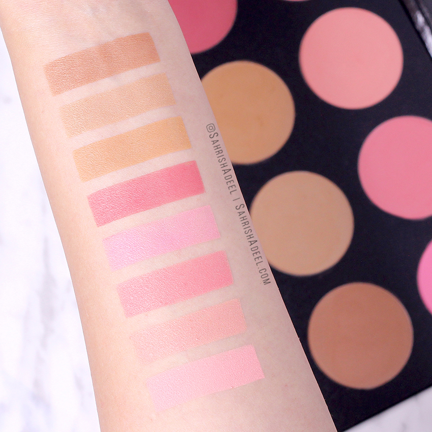 Pro Blush Palette Vol 1 by Color Studio Professional - Review & Swatches