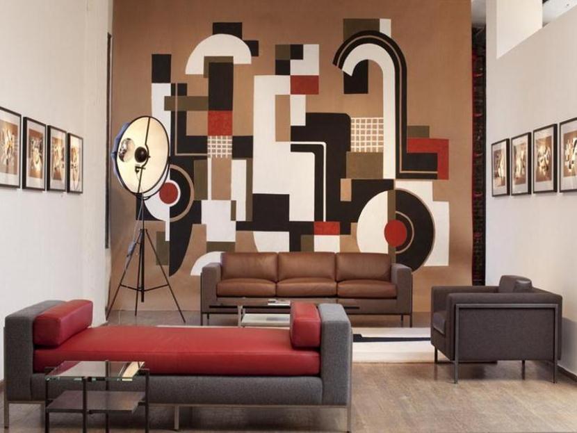20 Design Wallpaper Minimalis Sederhana Di Dinding Ruang Tamu