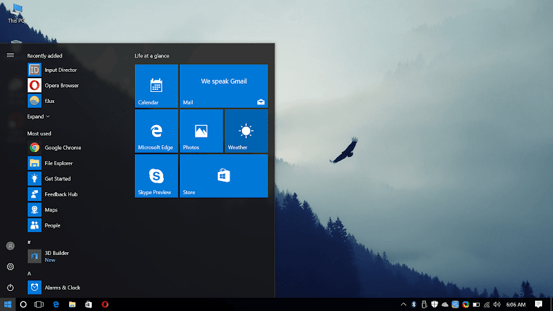 Windows 10 Desktop, September 2017