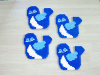 Mountain Bluebird handmade Beverage Coasters