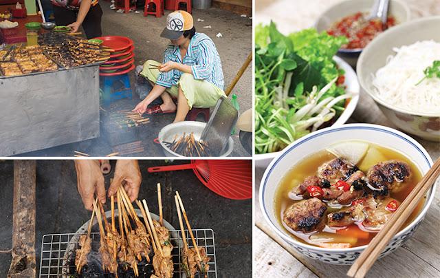 Bún chả - Thức ăn đường phố đặc trưng của Hà Nội.