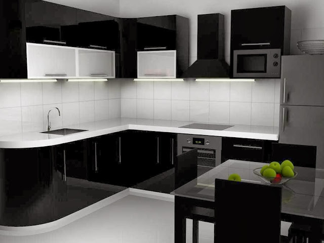 black & white interior design picture