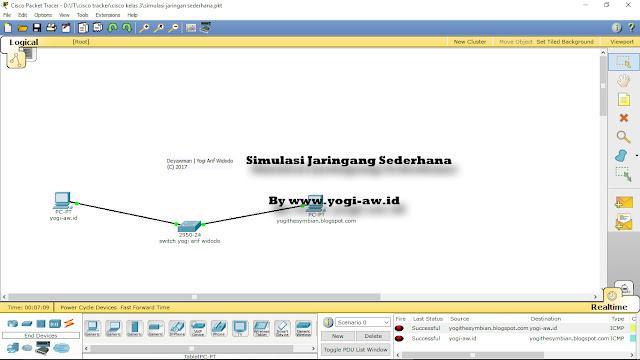Simulasi Membuat Jaringan Sederhana Menggunakan Cisco Packet Tracer