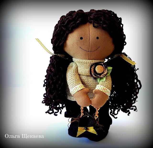 кукла, ручнойработы, тильда, малышка, золото