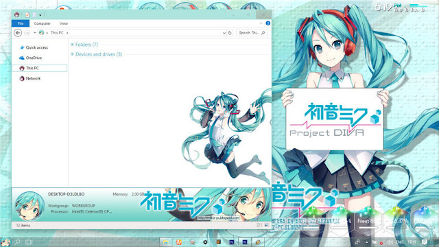 Windows 10 Ver. 1703 Theme Hatsune Miku by Enji Riz