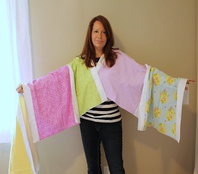 handmade receiving blanket - burp cloth