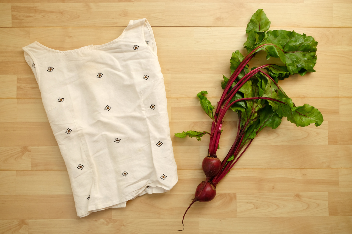 #haulternative fashion revolution beet dyed blouse