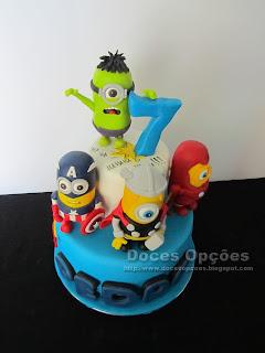 minions marvel super heros cake