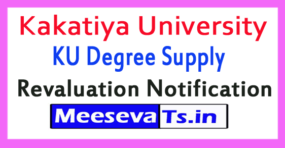 Kakatiya University KU Degree Supply Revaluation Notification