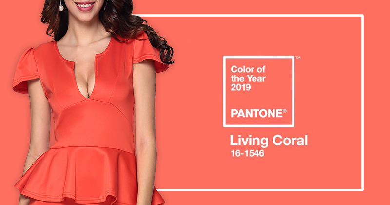Vestidos Living Coral - Cor do Ano 2019