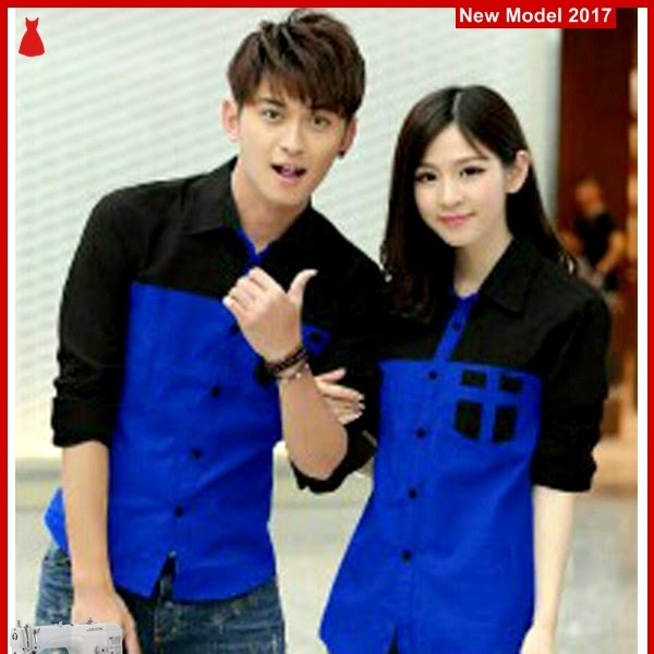 MSF0070 MODEL Couple Kemeja Murah Ferry Black BMG