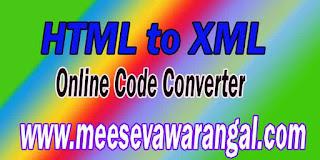 HTML to XML Parser Online | Adsense Code Converter