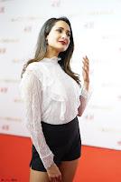 Pragya Jaiswal in lovely Black Mini Skirt and White Transparent Shirt ~  Exclusive 012.JPG
