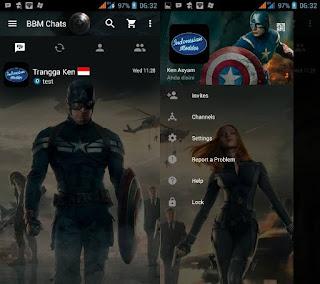 Download Kumpulan BBM MOD Karakter Tokoh Kartun Terlengkap captain amerika