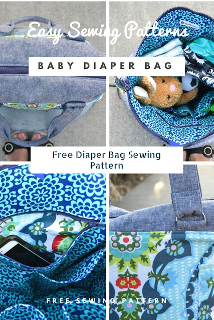 Easy to sew Diaper bag sewing pattern