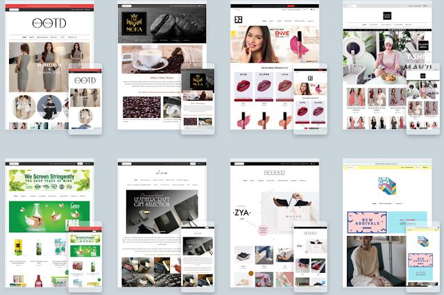 54 Contoh Website Kedai Online Guna Website Builder EasyStore Malaysia