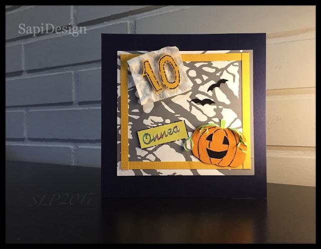syntymäpäivä poika 10-vuotias halloween SapiDesign