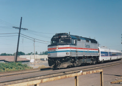 Amtrak F40PH #340 in Vancouver, Washington, in Summer 1997