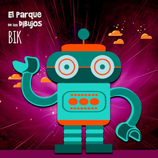 El robot Bik de Planeta Pomelo, serie exclusiva de El Parque de los Dibujos