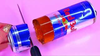 How To Make Real Red Bull Energy Drink Pudding Jelly Cooking Learn the Recipe