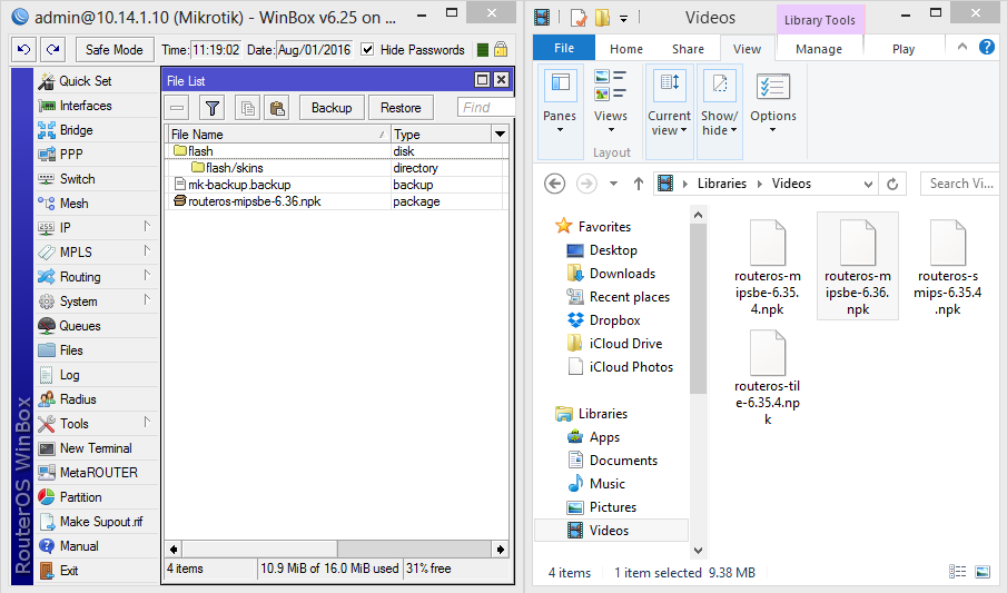 IT-Mikrotik: Upgrade and Downgrade Firmware