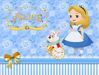 Alice Baby: Free Printables Invitations.