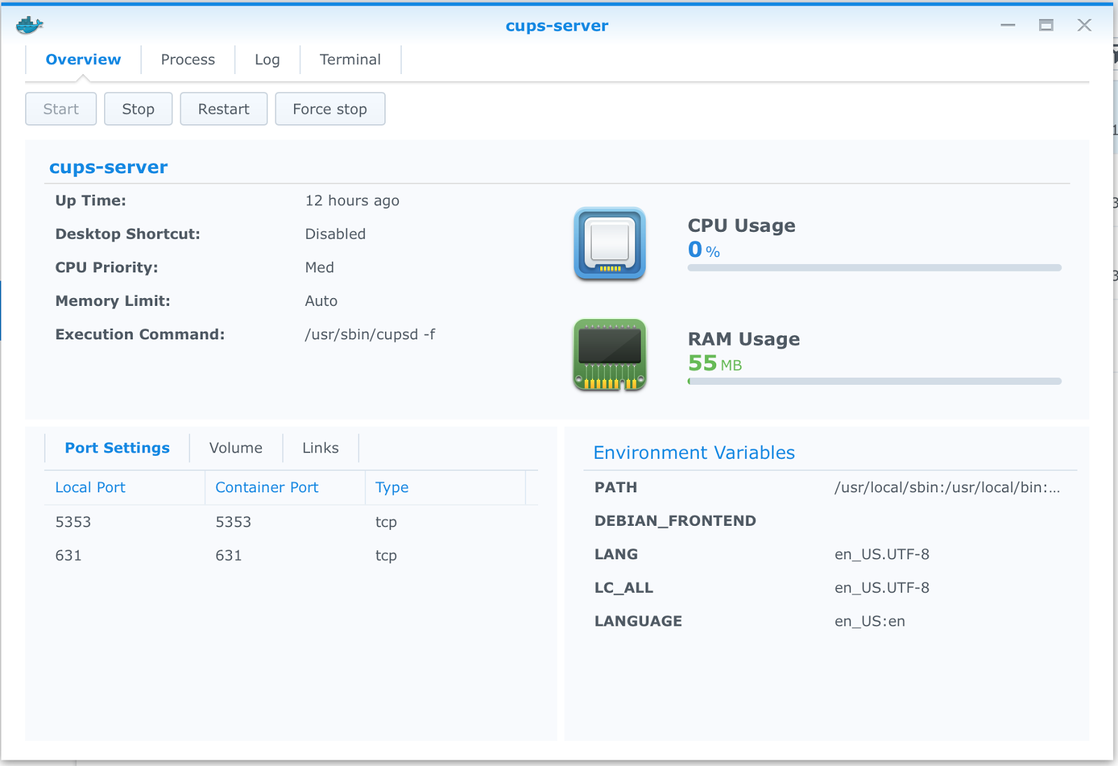 Setting up a CUPS server with Docker on a Synology NAS for my