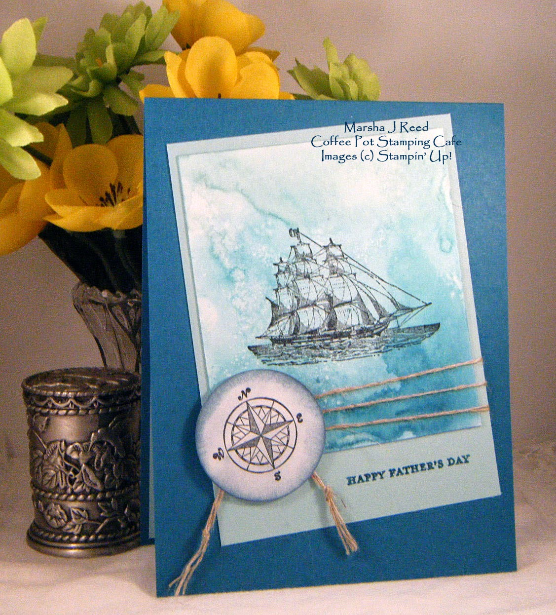 Lisa S Tool Time Father S Day Card: Coffee Pot Stamping Cafe: Happy Father's Day On The Open Sea