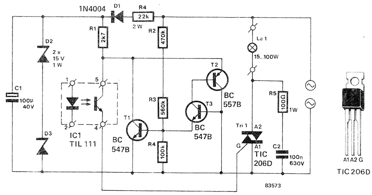 Schematic: How to Make a Solid State Relay Circuit at Home