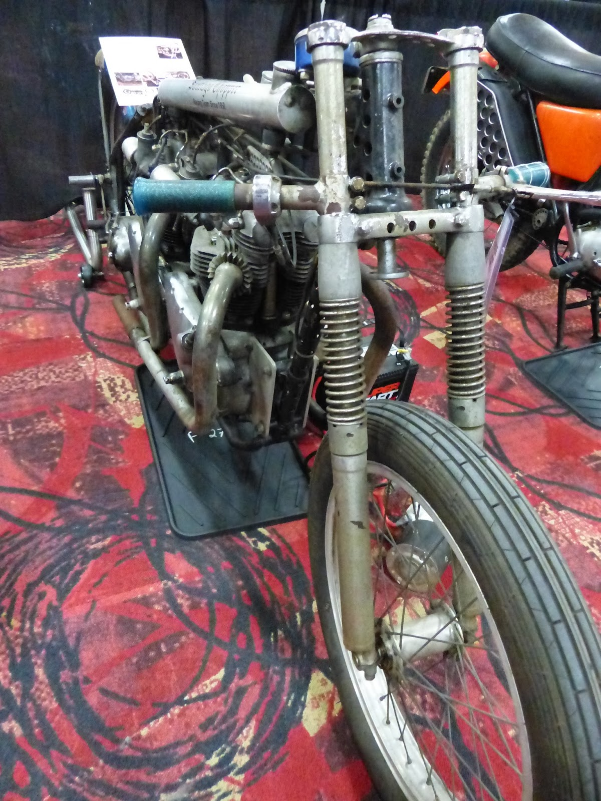 OldMotoDude 1955 Triumph Twin Engine Drag Bike sold for $18 500 at