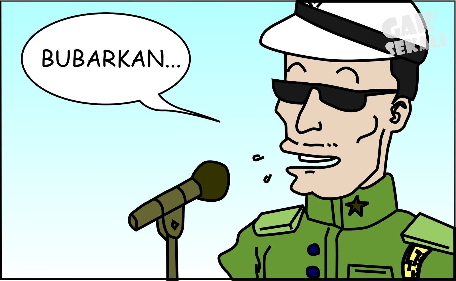 KOMIK LUCU Upacara Bendera SMK RISTEK ROWOKELE