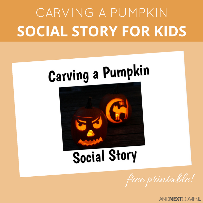 Free Printable Halloween Social Story About Carving a Pumpkin ...