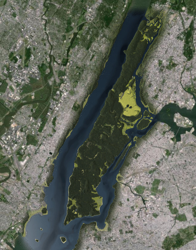 Interactive map of New York City in year 1609