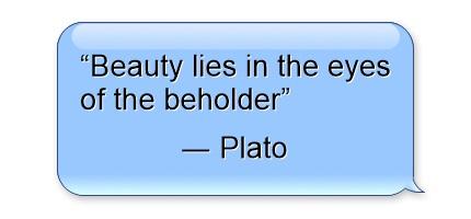 Plato quote beauty
