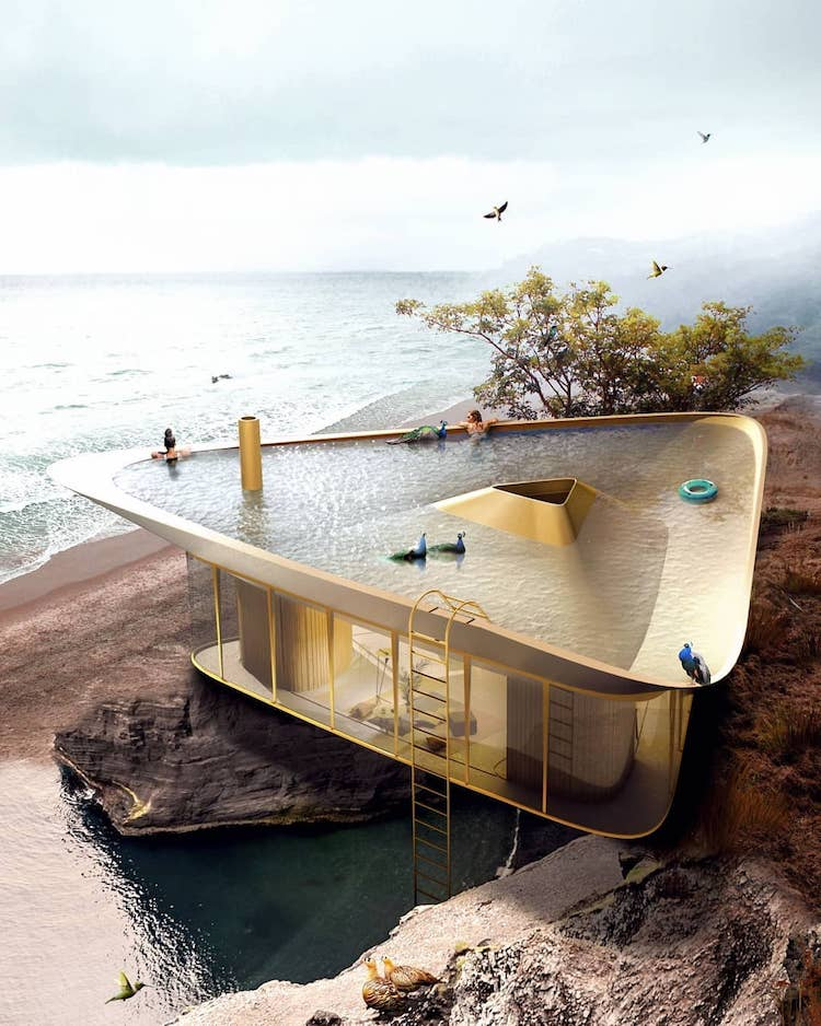 Stunning Pictures Of A Contemporary Summer House With Innovative Roof Pool And Panoramic Views
