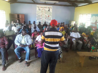 Senate aspirant Ken Nyale at Mnarani ward. PHOTO | Courtesy