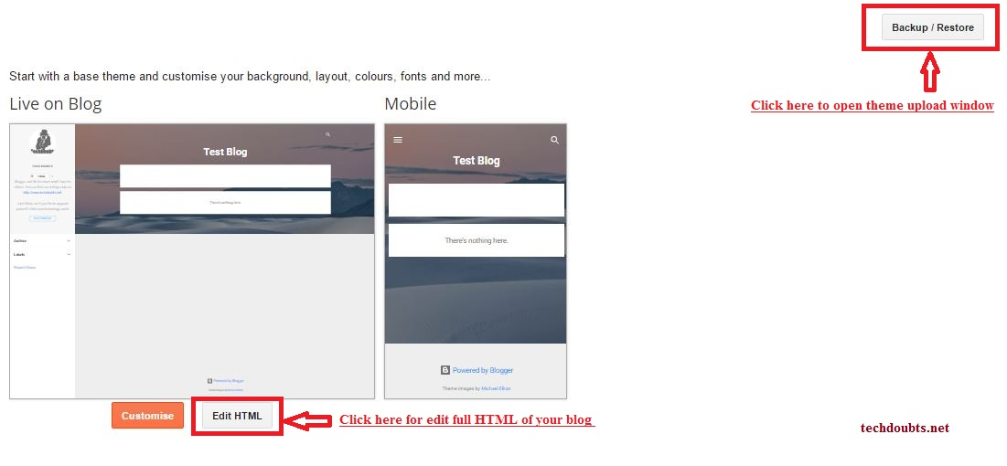 How To] Change blogger template - TechDoubts